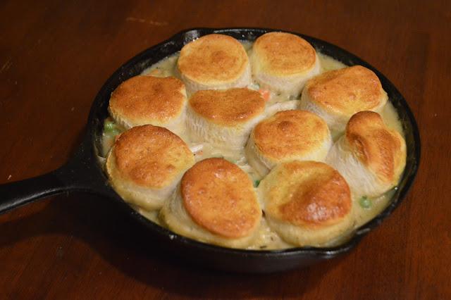 Skillet Biscuit Pot Pie