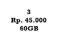 Paket Murah Three 45K 60GB Perbulan