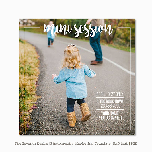 Mini Session Template - Photography Marketing Templates - Marketing Board