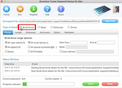 iTunes backup password recovery software