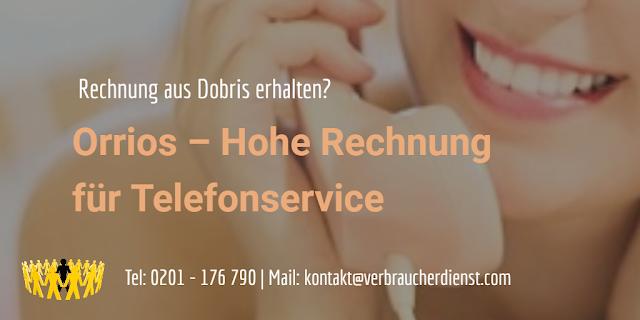 Titelbild: Orrios – Hohe Rechnung für Telefonservice