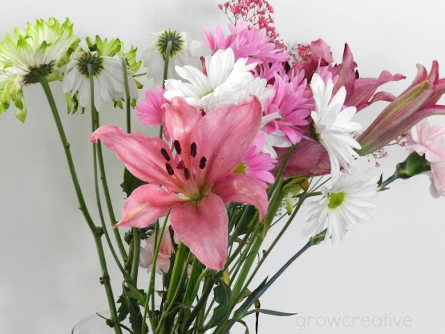 pink and green flowers: growcreativeblog