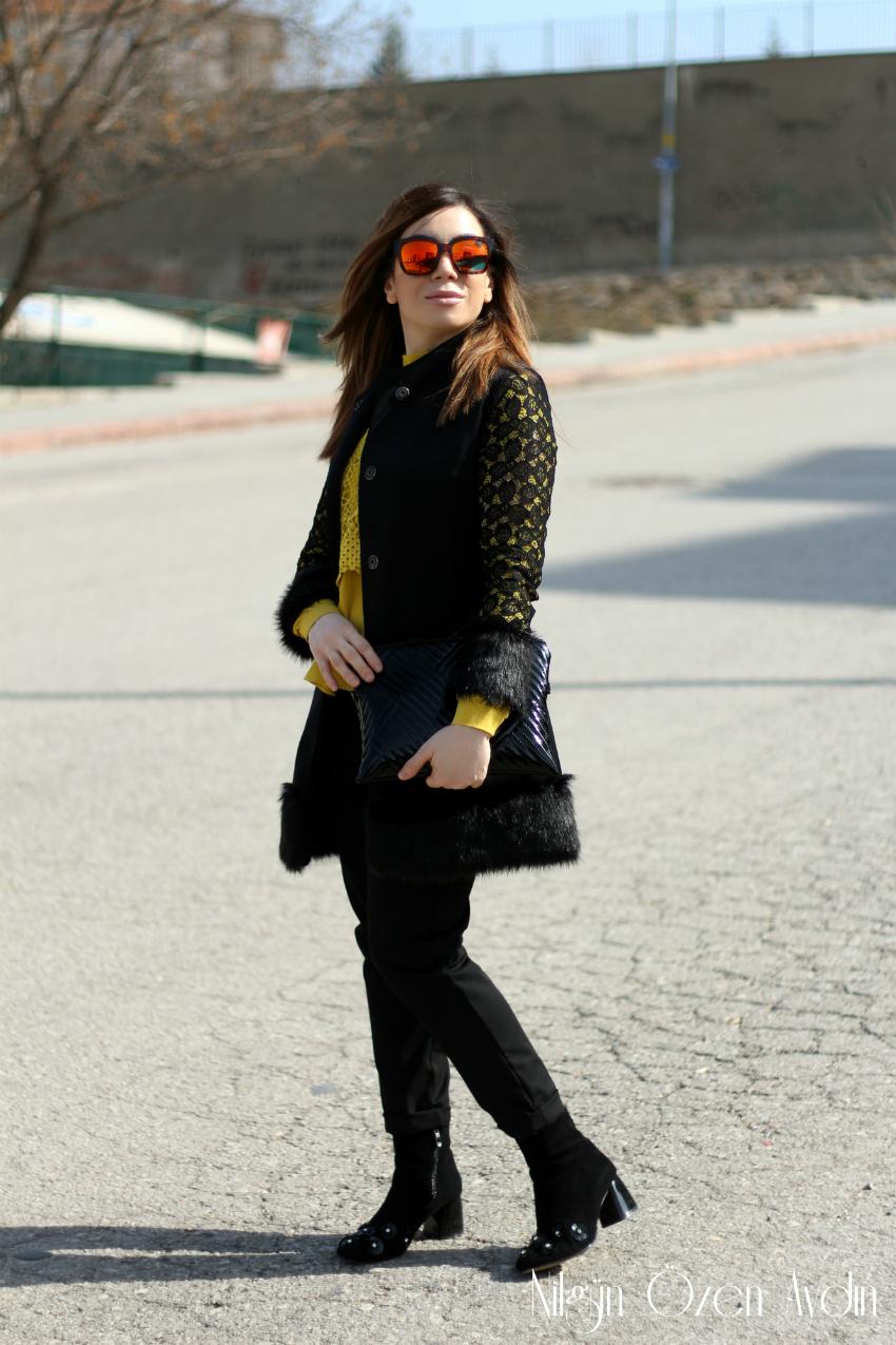 alışveriş-sokak modası-kürk ve dantel detaylı-moda blogları-moda