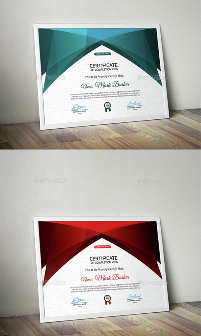 21 Awesome Certificate Templates in PSD MS Word Vector EPS Formats     Certificate Template Modern Design