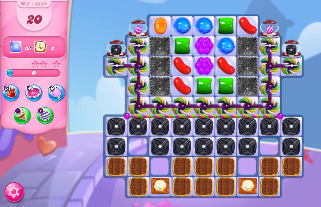 Candy Crush Saga level 5889