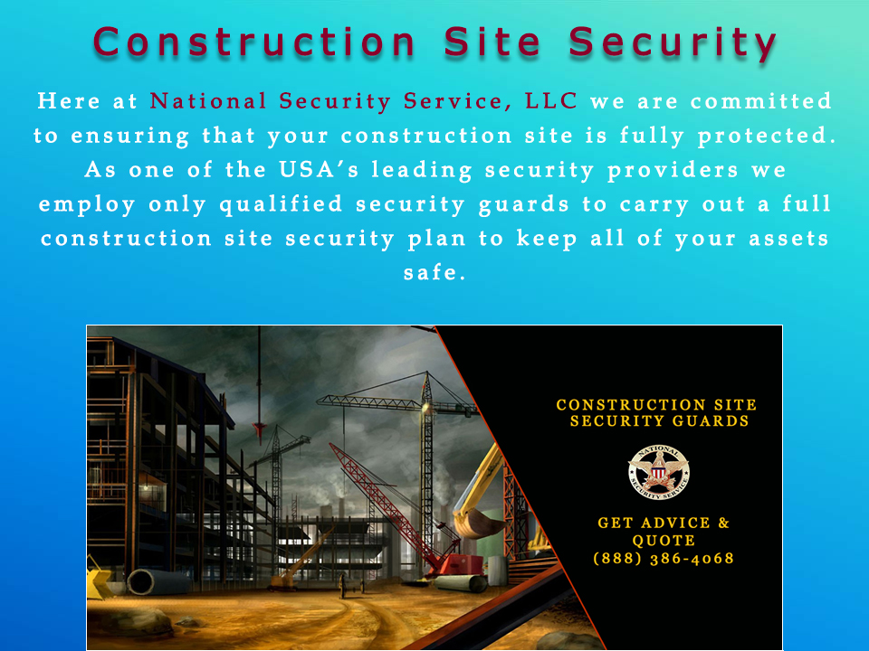 Security Guard for Hire – Site Security Plan For Construction Project