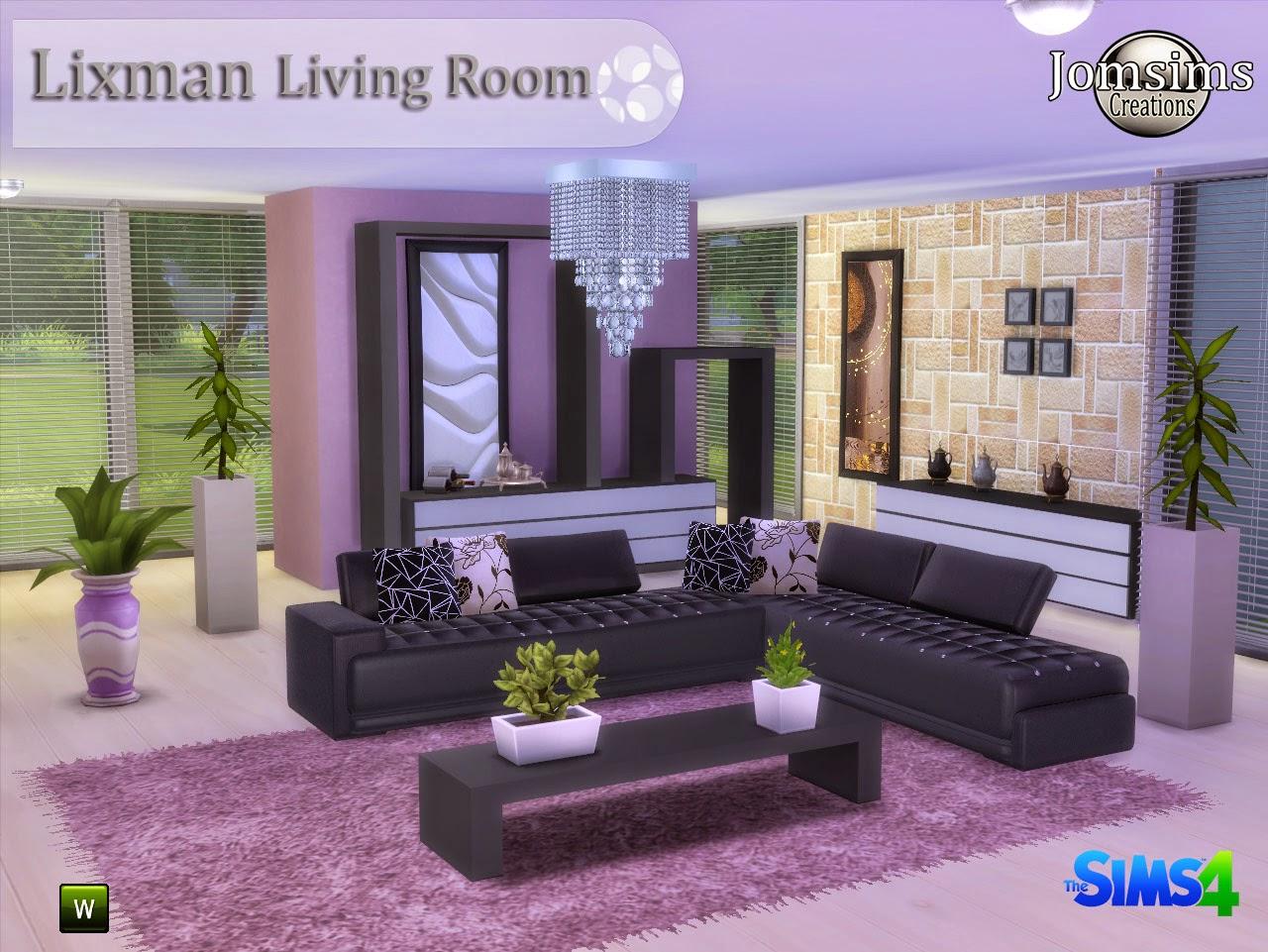 Jomsimscreations blog new living room sims 4 lixman for Living room sims 4