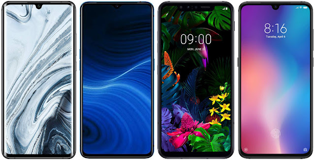 Xiaomi Mi Note 10 vs Realme X2 Pro vs LG G8s ThinQ vs Xiaomi Mi 9