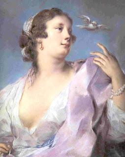 Resultat d'imatges de Rosalba Carriera noia amb ocell
