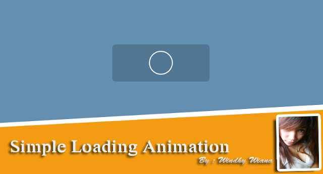 How to provide simple loading animation effects when the page is loaded