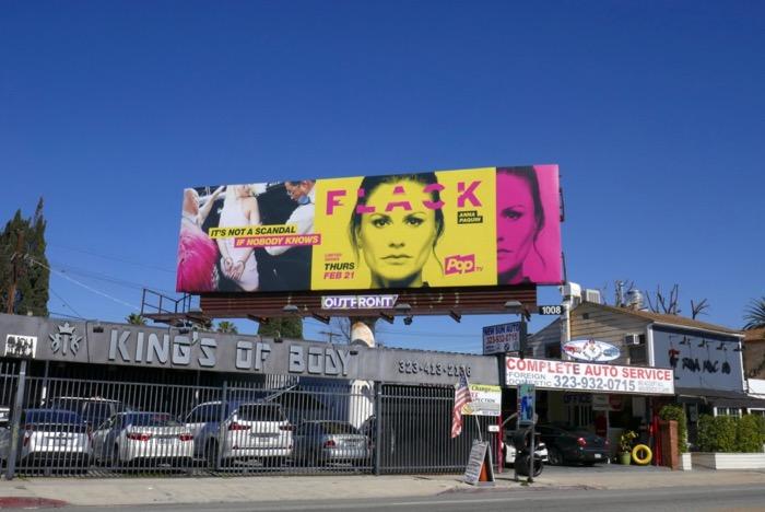 Flack Pop series billboard