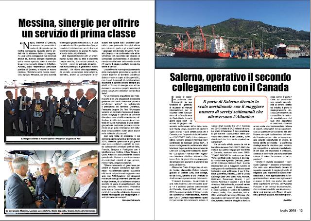 LUGLIO 2018 PAG 13 - Salerno, operativo il secondo collegamento con il Canada