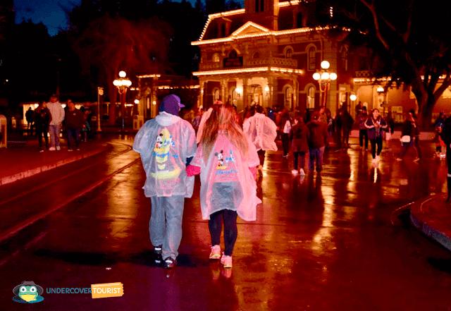 Un día lluvioso en Disneyland California