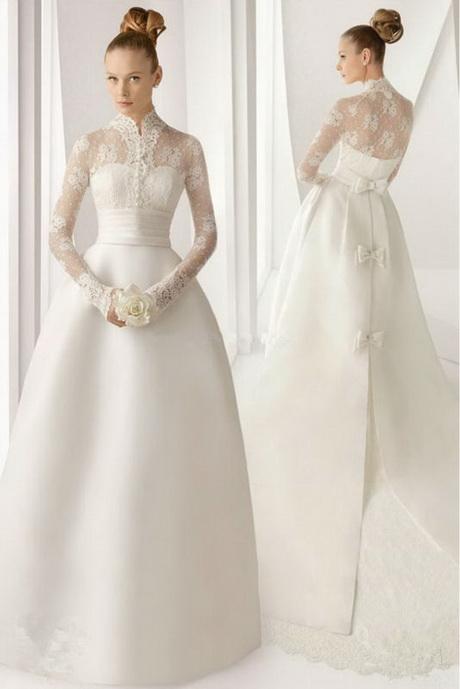 Vestido de novia manga larga clasico