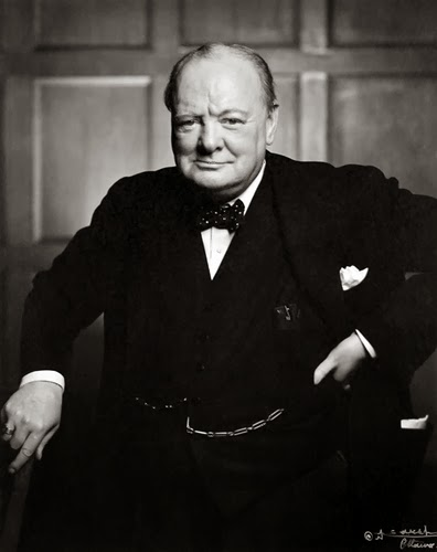 Winston Churchill posing randompictures.filminspector.com