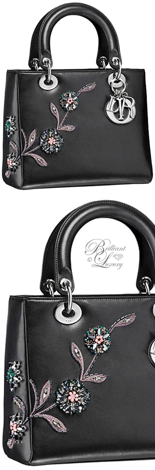 Brilliant Luxury ♦ Dior Lady Dior 'Embroidered Black Lambskin' Bag