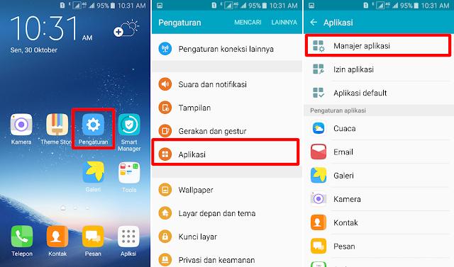 Cara Menghapus Data Aplikasi di HP Samsung 8