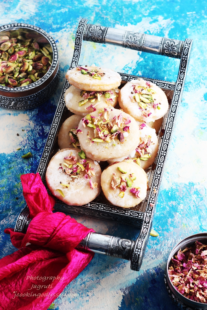 Thor-Meetha Saata-Deep fried pastry dipped in a thick Sugar glaze is perfect sweet for Diwali -Festival of Lights.