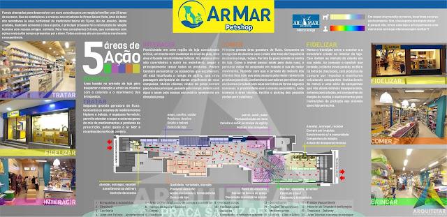 conceito projeto de arquitetura marca logotipo pet shop Ar Mar