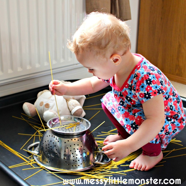 pasta play for toddlers and preschoolers