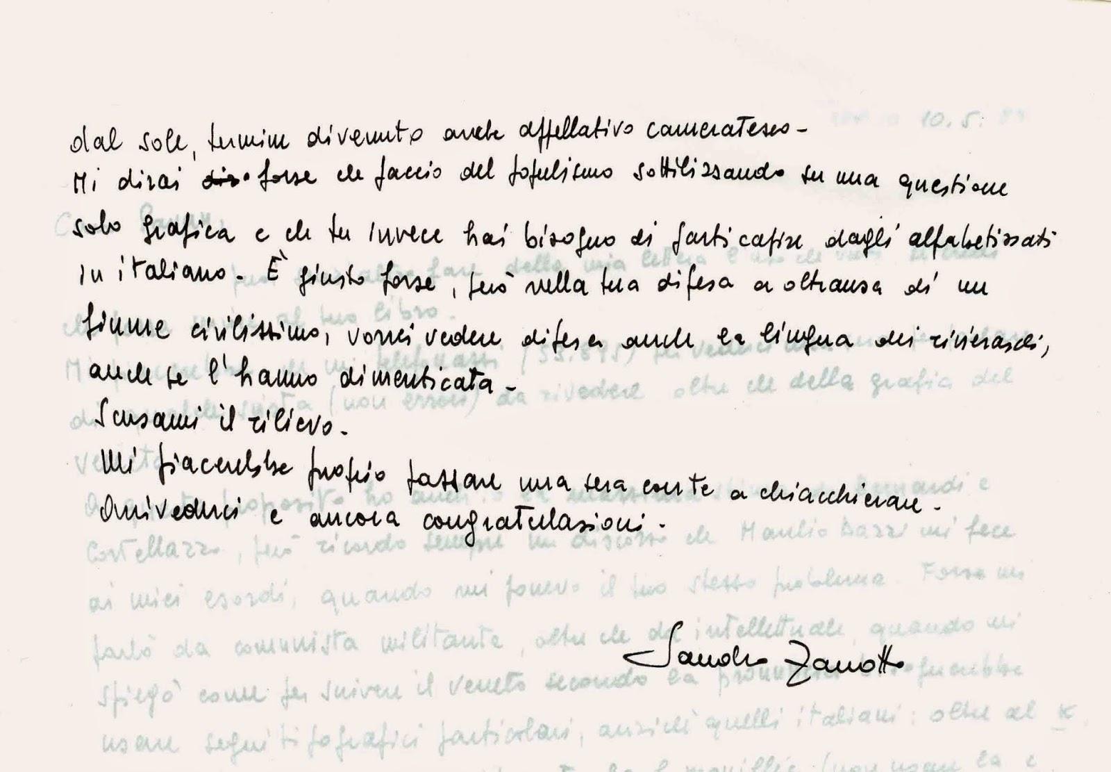 Eccezionale Camillo Pavan: Scambio di lettere con Sandro Zanotto OE04