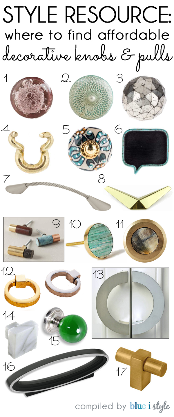 Cabinet hardware decorative knobs and pulls