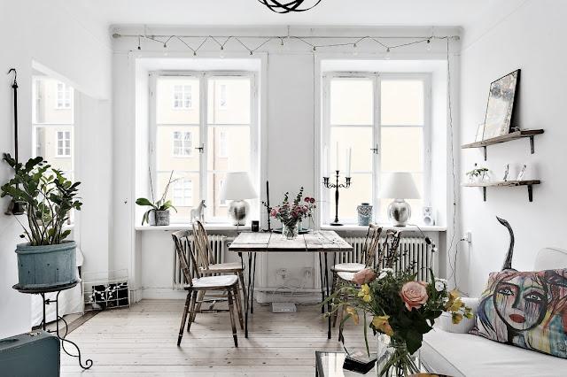 Amenajare interioară în stil vintage într-o garsonieră de 35 m²