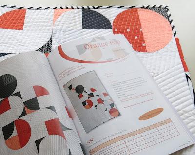 Luna Lovequilts - France Patchwork magazine #133 - Orange Pop Pattern