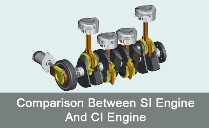 Comparison Between SI Engine And CI Engine