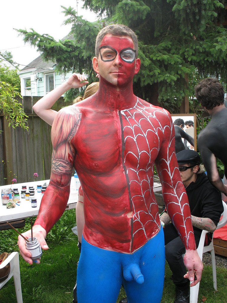 Naked Male Painted Body Art