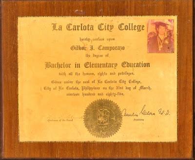 Gil's Diploma 1985
