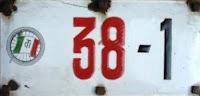 targa milano 38
