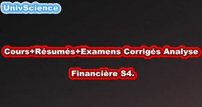 Cours+TD+Examens+Résumés Analyse Financière S4