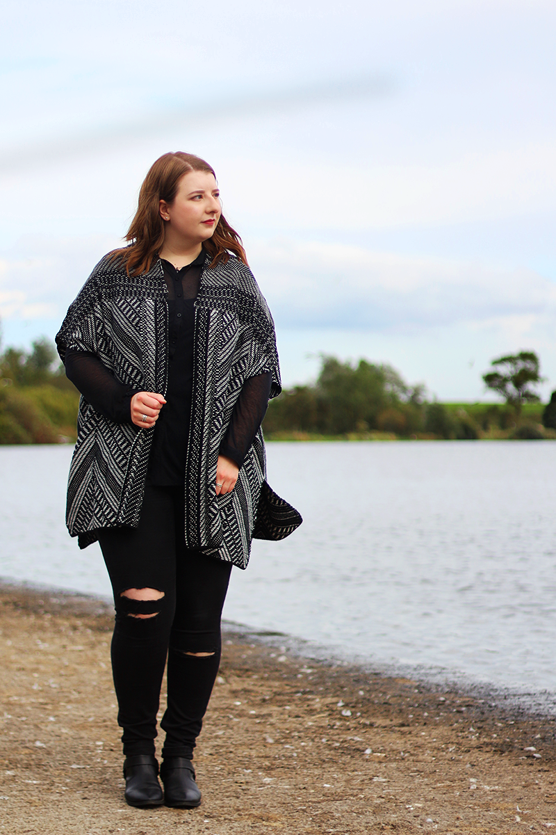 Papaya Curve Patterned Knitted Kimono from Matalan