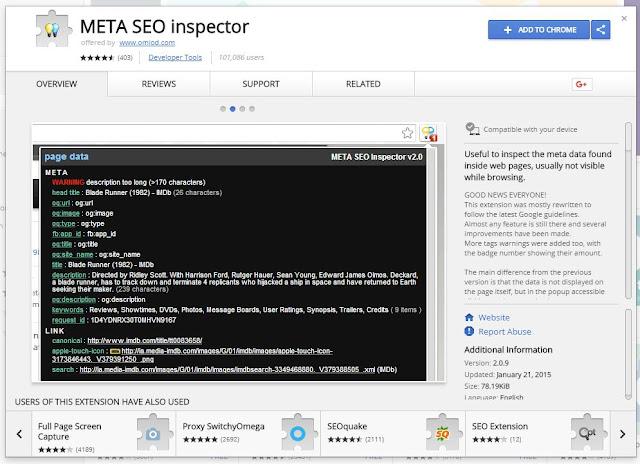 META SEO inspector