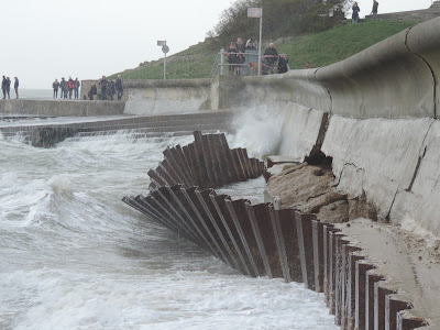 southsea battlements sea wall damages