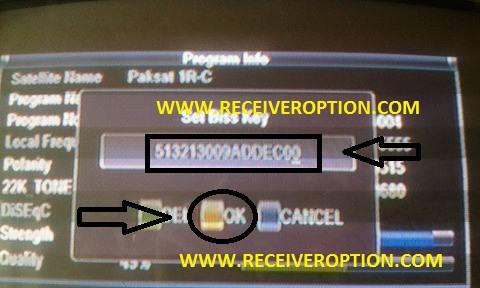 STARGOLD SG-1700HD RECEIVER BISS KEY OPTION