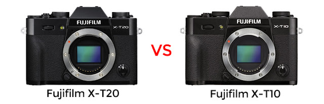 What are the differences between the Fujifilm X-T20 vs X-T10?