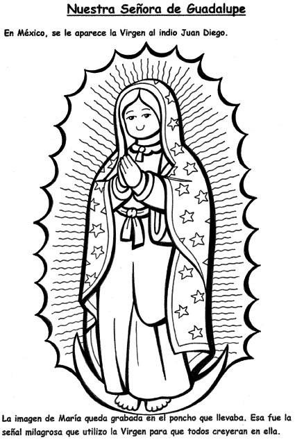 Dibujos Virgen Guadalupe Niños Imagui