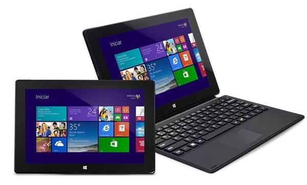 Notebook com design 2 em 1 oferece Windows 10 e processador Atom