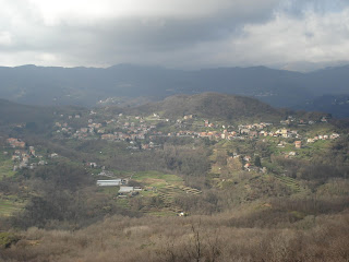 Lumarzo sits on a hillside in Liguria