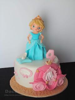 Bolo de aniversário com a Cinderela