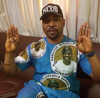 MC Oluomo stabbed in the neck at APC Governorship rally in Lagos