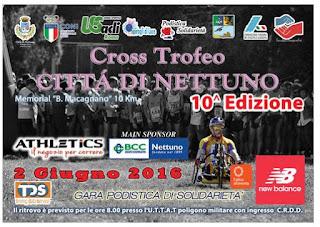 CLASSIFICA Trofeo città Nettuno 2016