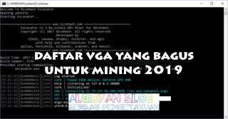 Daftar VGA yang bagus untuk Mining 2019