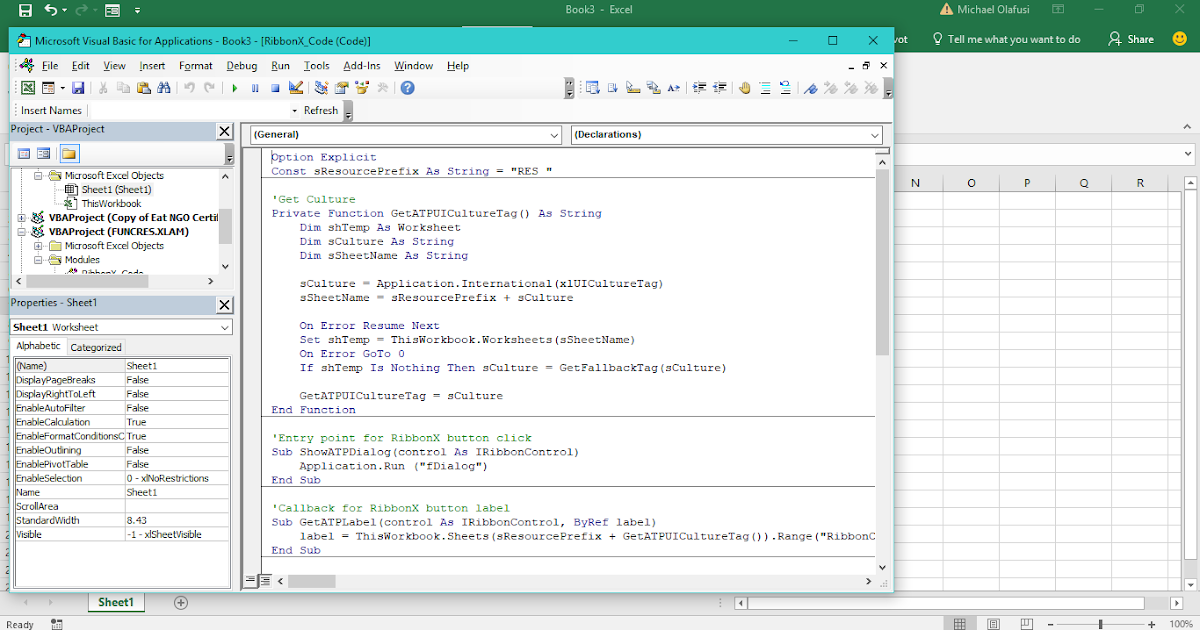 July 2017 Webinar Getting Comfortable With Microsoft Excel Vba