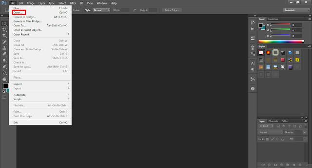 cara ubah latar belakang foto di photoshop