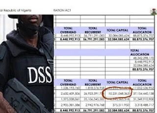 SHOCKER: Fresh Documents REVEALS DSS 2016 Budget Also Padded With N4.4b