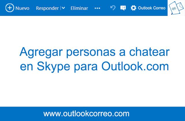 Invitar personas a chatear en Skype para Outlook.com