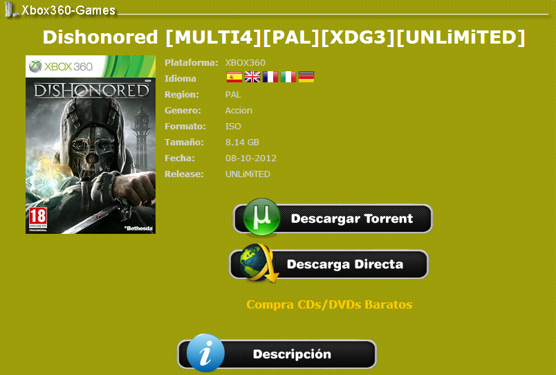 Mejores Paginas Para Descargar Juegos De Xbox 360 Por Torrent Teletype